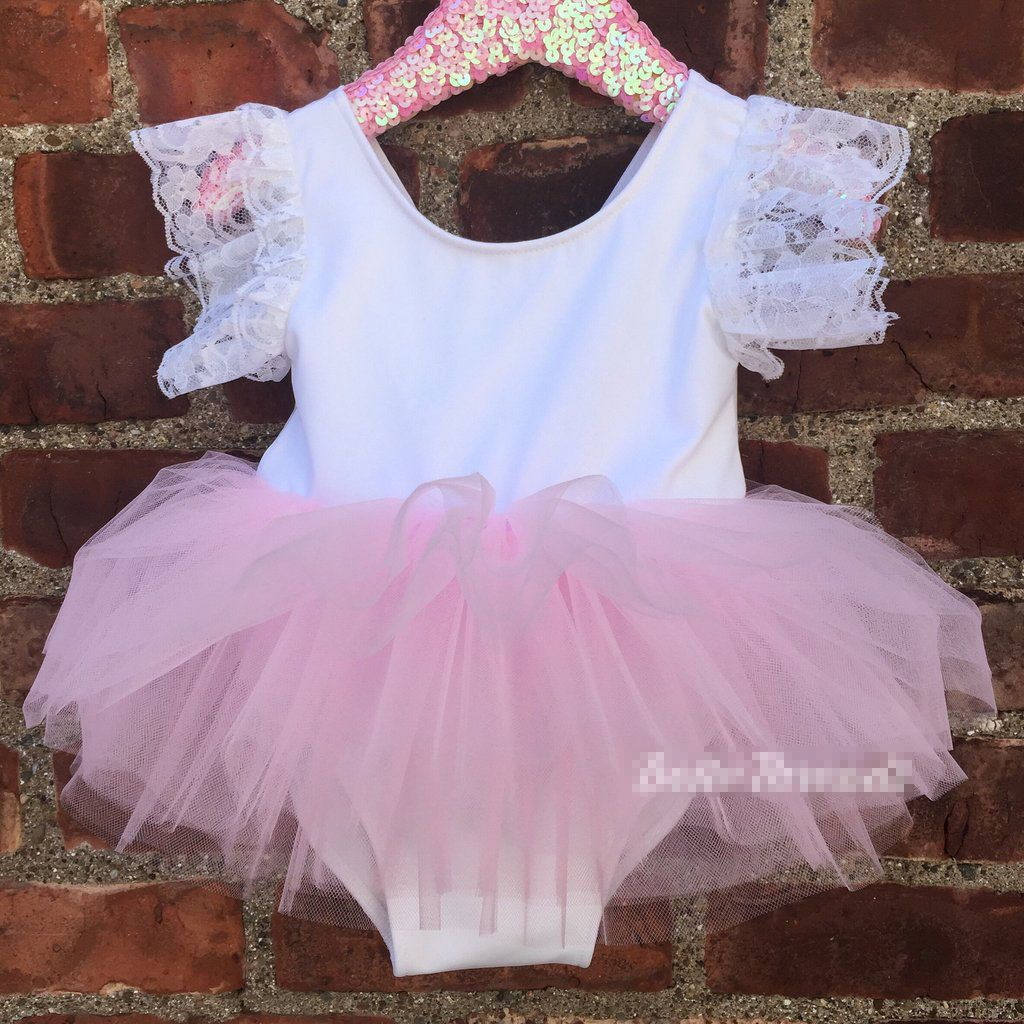 a8f50b2c1 Click to Buy    Summer Newborn Kids Baby Girls Pink Romper Party ...