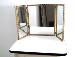 Tri Fold Table Mirror