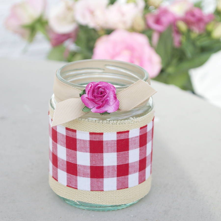 Festive Tea Light Holder | Jam jar candles, Jar candle and Jar