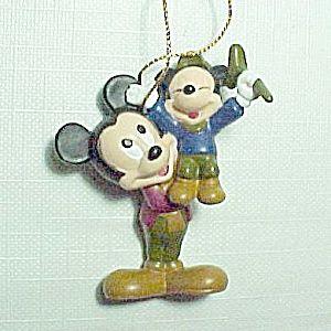 Avon Disney Mickey Mouse Rubber Christmas Tree Ornament.