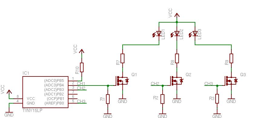 Power Rgb Led Controller Led Controller Rgb Led Electronic Schematics