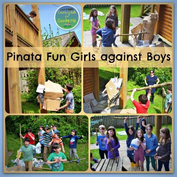 Triplets Party Pinata Fun