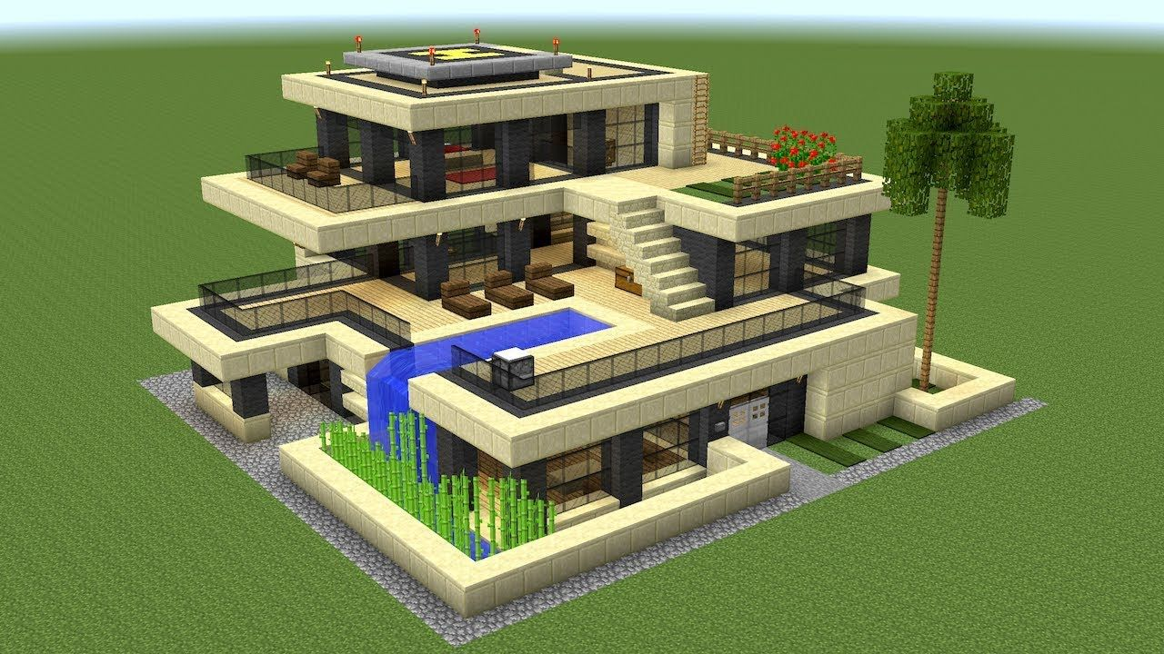 Minecraft How To Build A Huge Modern House 2 Minecraft House