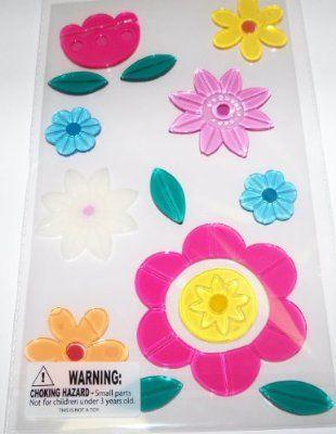 Light Table Toys = Flower Gel Window Clings $13