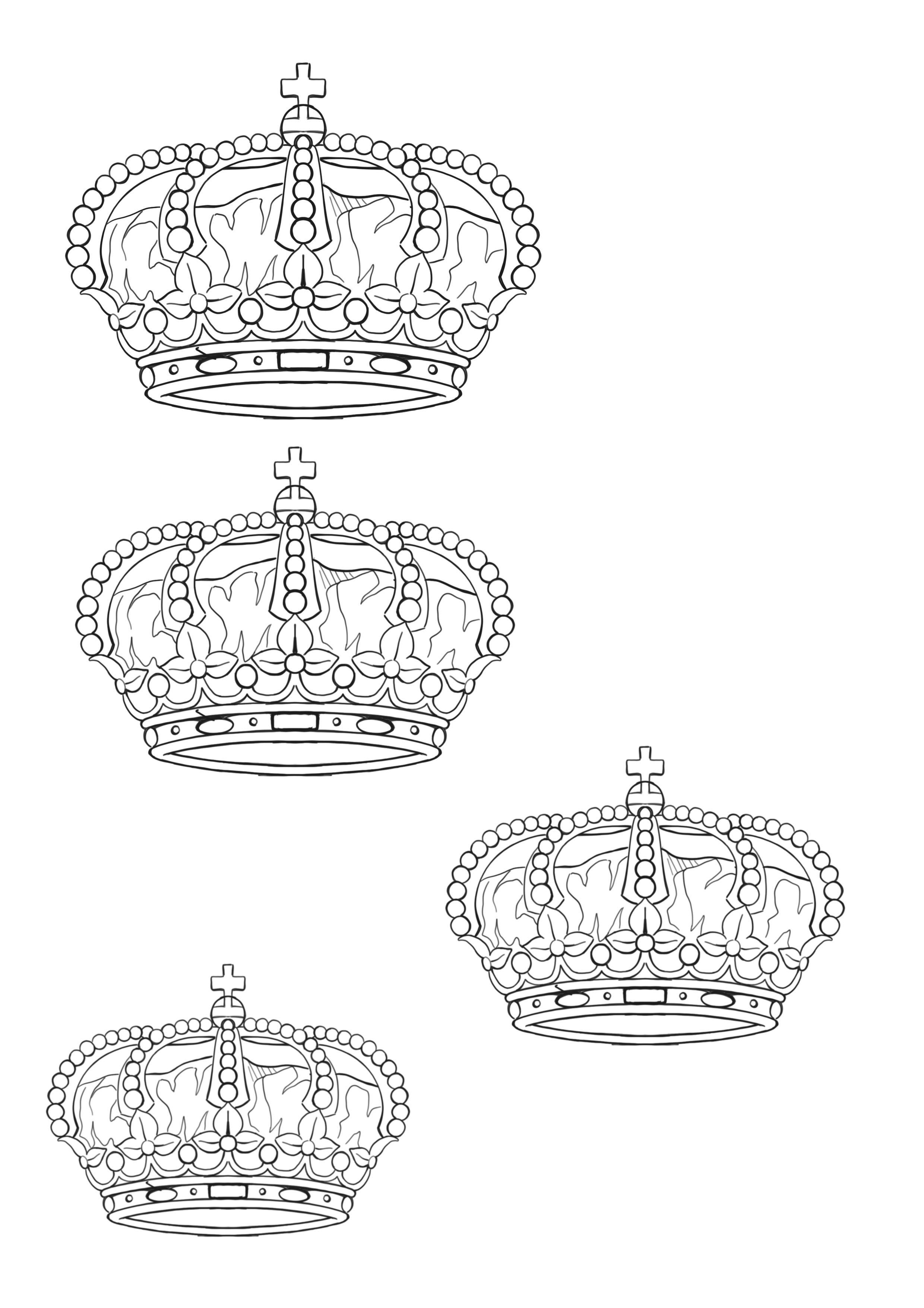 Corona rey king crown | Outlines tattoo (plantillas tatuajes ...