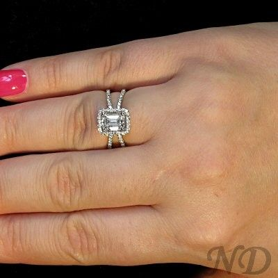 Engagement Rings Diamond Ring With Criss Cross Band