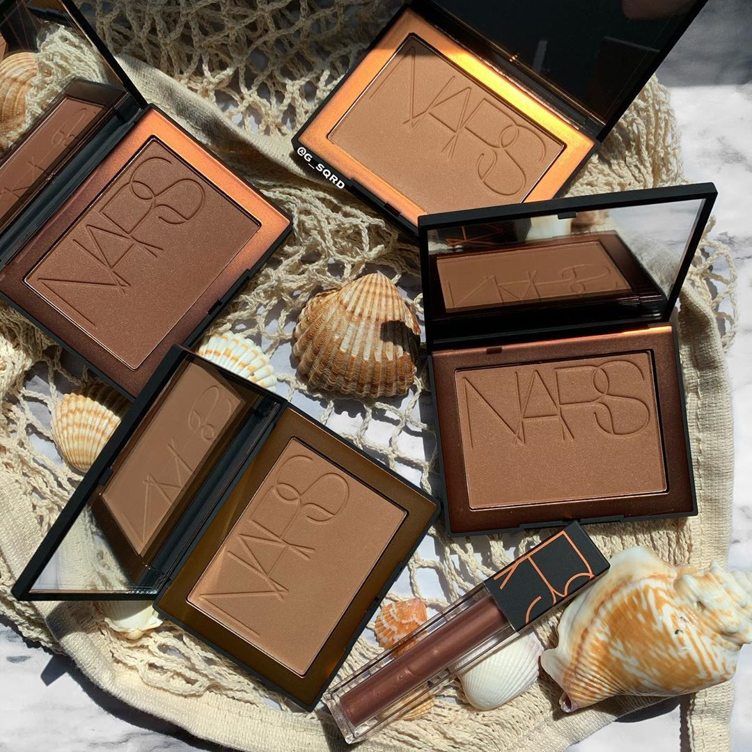 "🧿G I G I🧿'S MAKEUP WORLD on Instagram: ""NARS BRONZING COLLECTION  @narsissist  . . . . . . #nars #narscosmetics #narslaguna #bronzers #contour #makeupcollection #lipoil…"""
