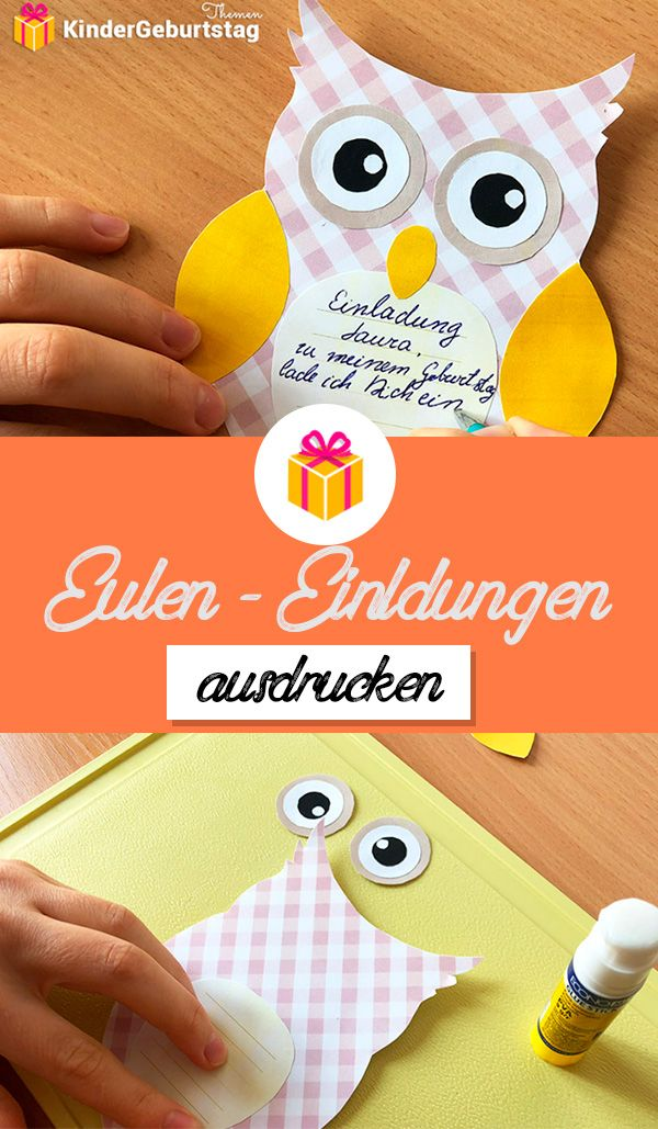 Photo of Print templates for owl invitations for free