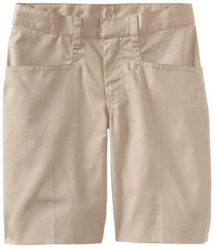 Classroom Big Girls' Low Rise Bermuda Short, Khaki, 14. Adjustable waist. Narrow leg.