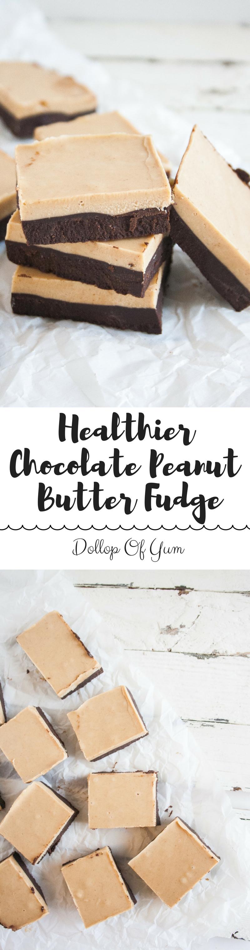 Healthier Chocolate Peanut Butter Fudge