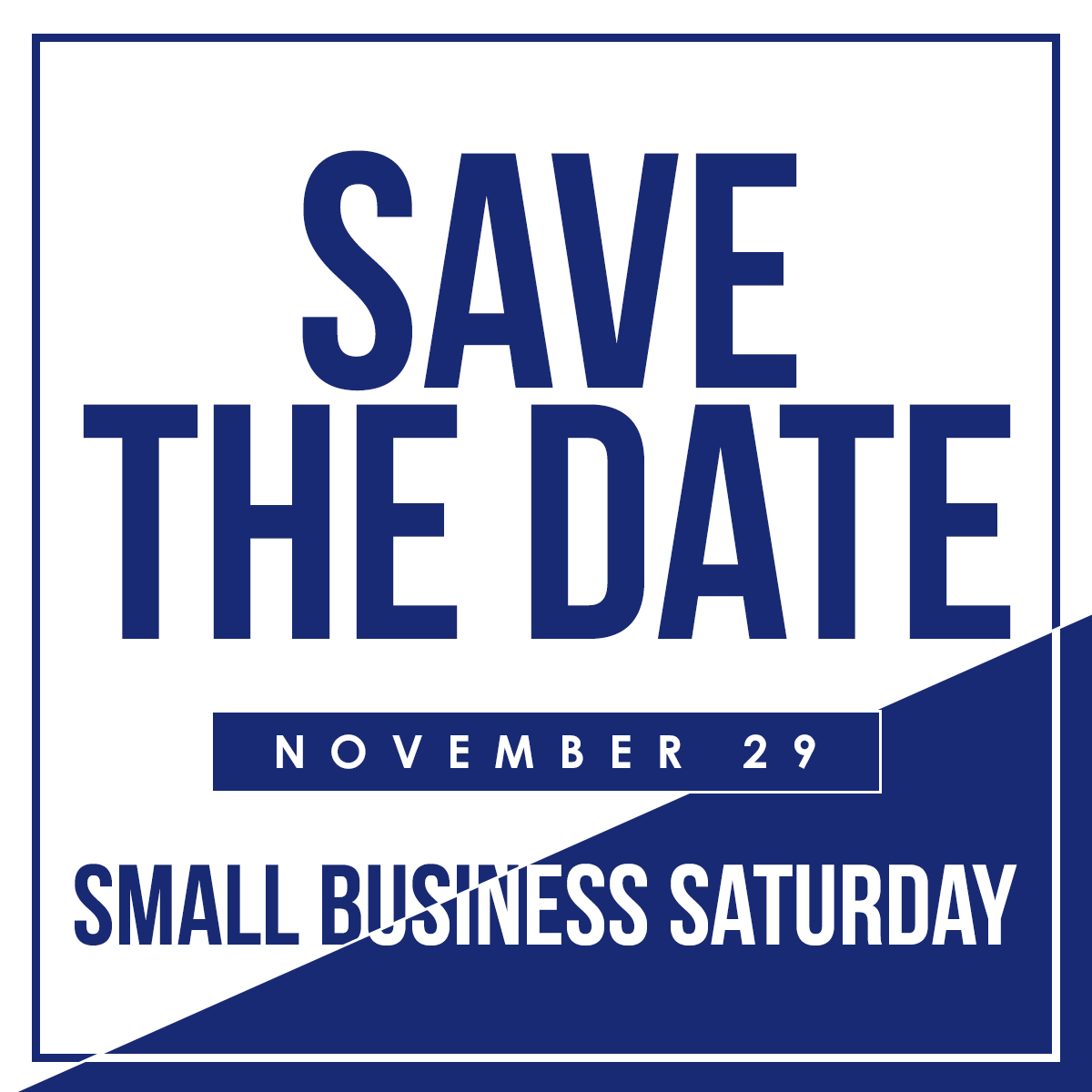 Shop small on Small Business Saturday November 29! # ...