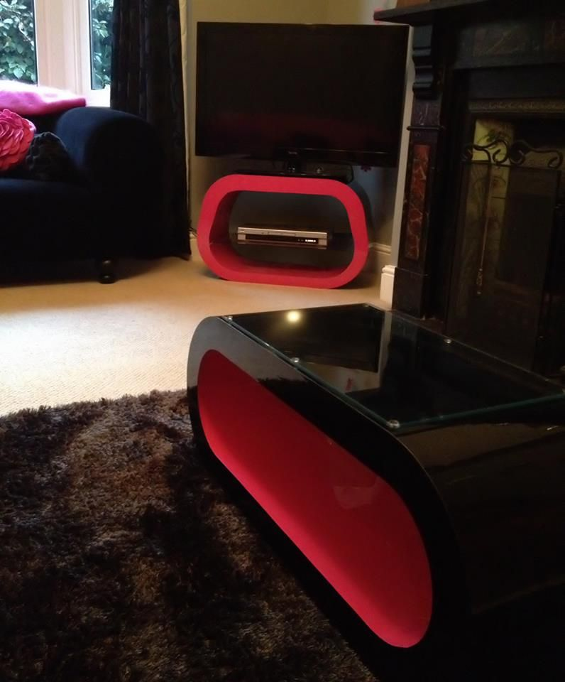 We Made This Squoval For One Of Our Customers Along With A Matching Coffee Table Custom Coffee Table Tv Stand Retro Coffee Tables