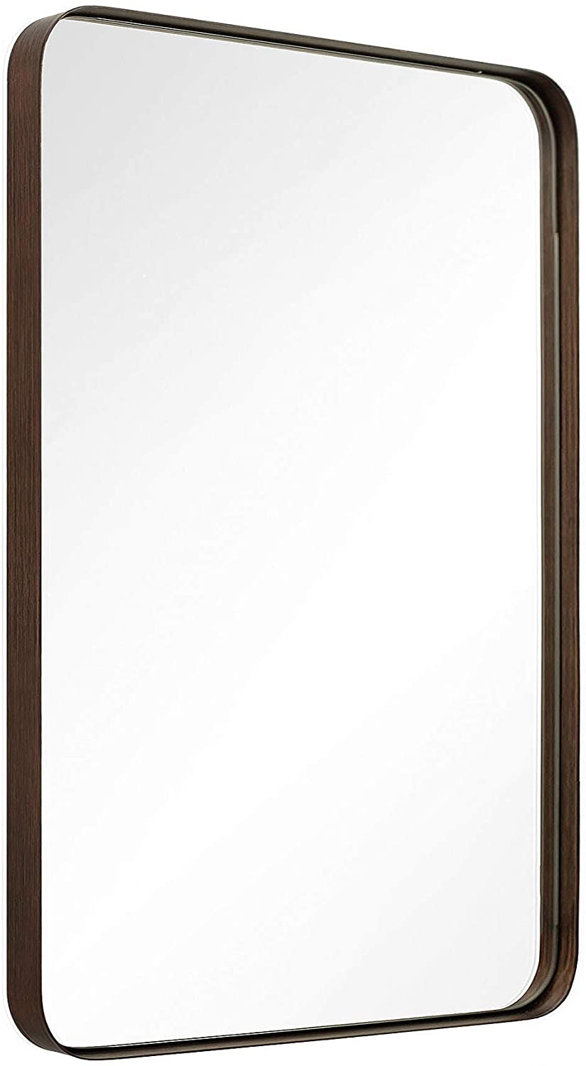 Amazon Com Andy Star Wall Mirror Brushed Bronze 22x30 Contemporary Rectangular Stainless Steel Metal Frame R In 2020 Stainless Steel Metal Rectangular Mirror Wall