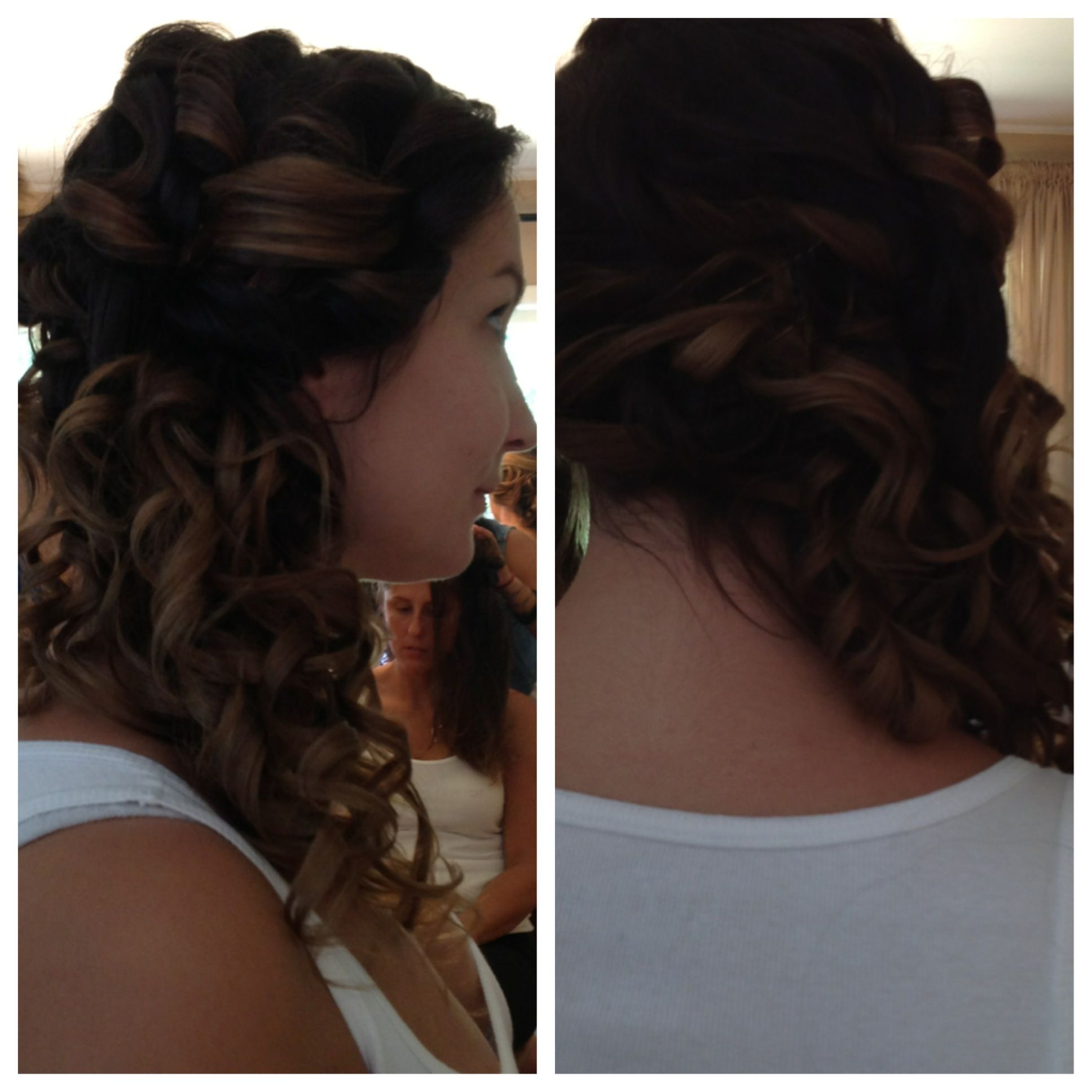 Wedding Side Ponytail Hairstyles: Wedding Hair! Low Curly Side Ponytail.