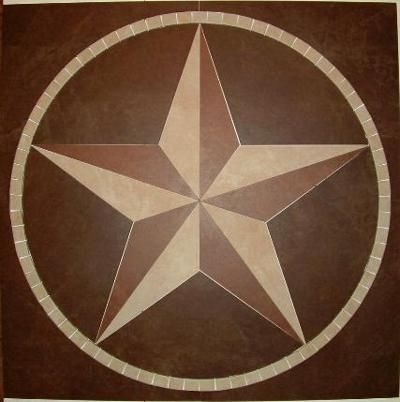 Texas State Stars And Flag Handcrafted Custom Tile Designs