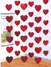 Easy Heart Garland Tutorial made with strips of scrapbooking paper and Glue Dots strips
