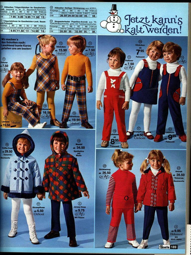 1972 Quelle 189 Kindermode Childhood Memories Vintage Children