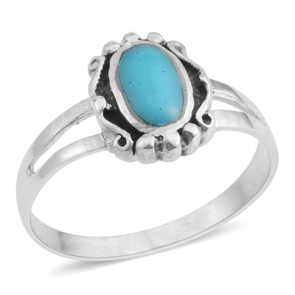 Details about TURQUOISE STERLING SILVER RING BEZEL SET ...