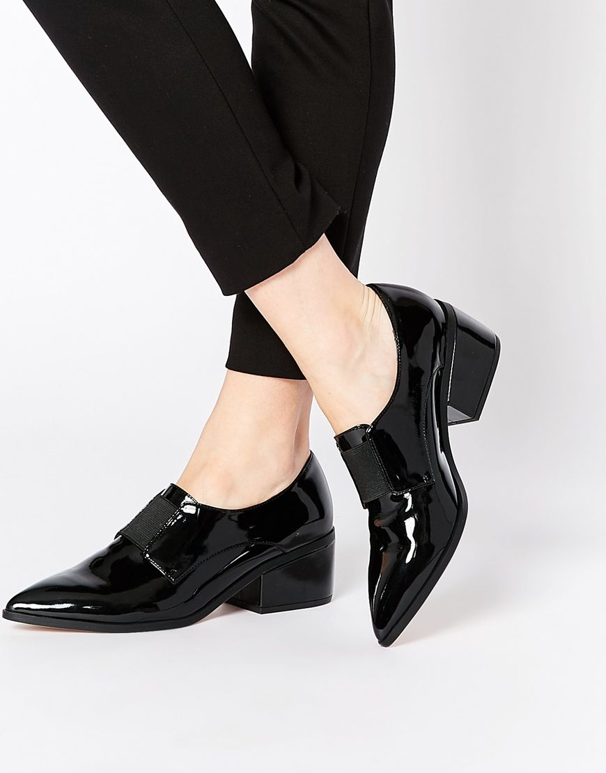 819b46318941  48 ASOS SOCIALLY Pointed Loafer Heels