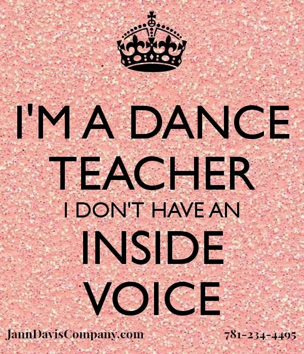 None Of My Teachers Do And Sometimes My Inner Dance