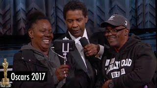 "Denzel Washington Holds HILARIOUS Tourist Wedding Ceremony at 2017 Oscars with ""Gary from Chicago"" - YouTube"