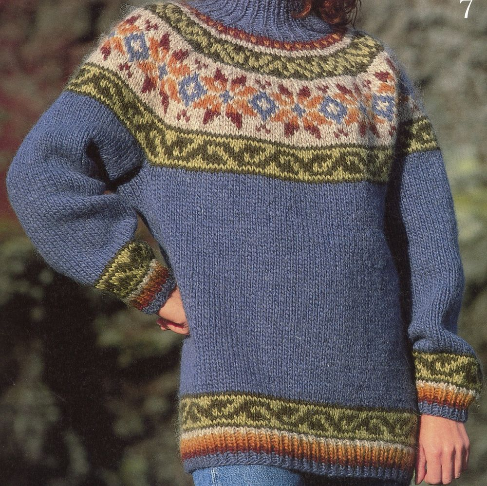 Strickpackung Island Norweger Pullover Islandwolle Alafoss Lopi Mod