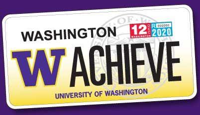 University Of Washington Scholarships >> Uw License Plate Sales Benefit Student Scholarships