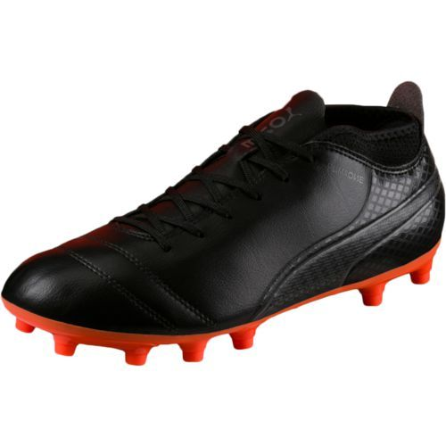 Puma Men s Puma ONE 17.4 Jr. Firm Ground Soccer Shoes (Black Bright Orange 5d0f81118