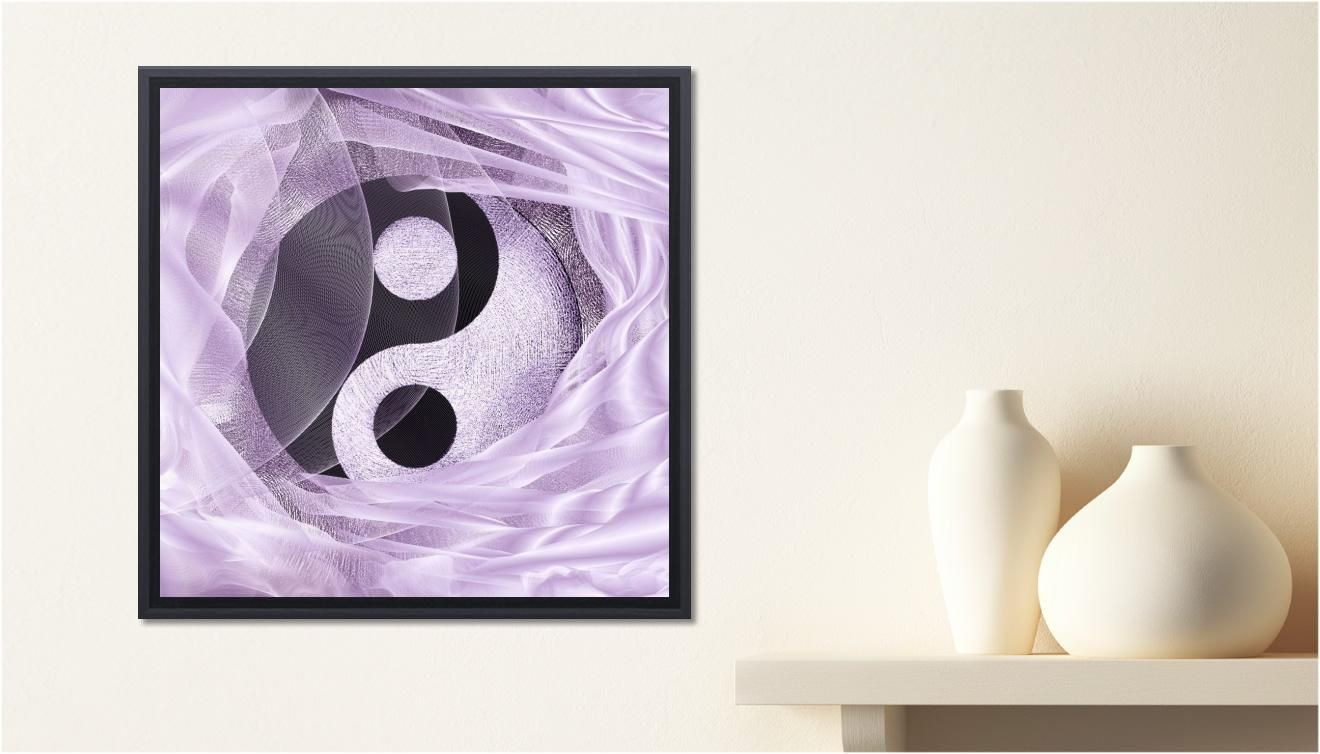 Chart numérique yin yang tendresse dégradé de parme canvas from sheszen print on