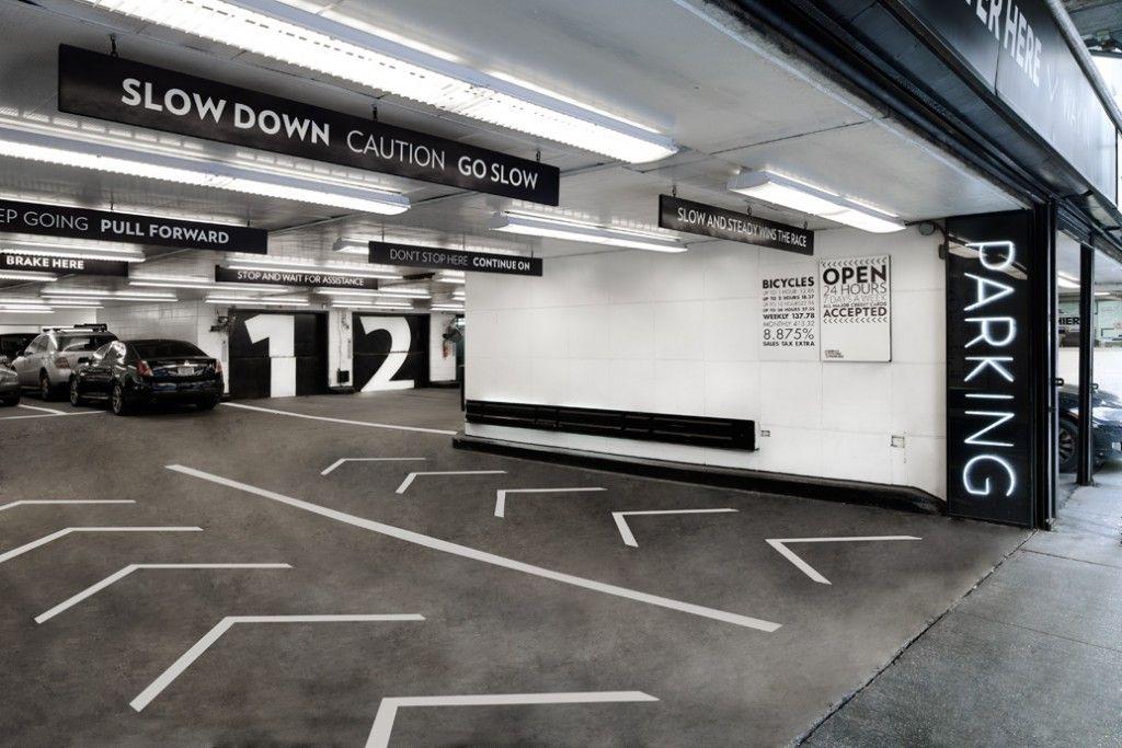 Black And White Parking Design Park Signage Signage Design