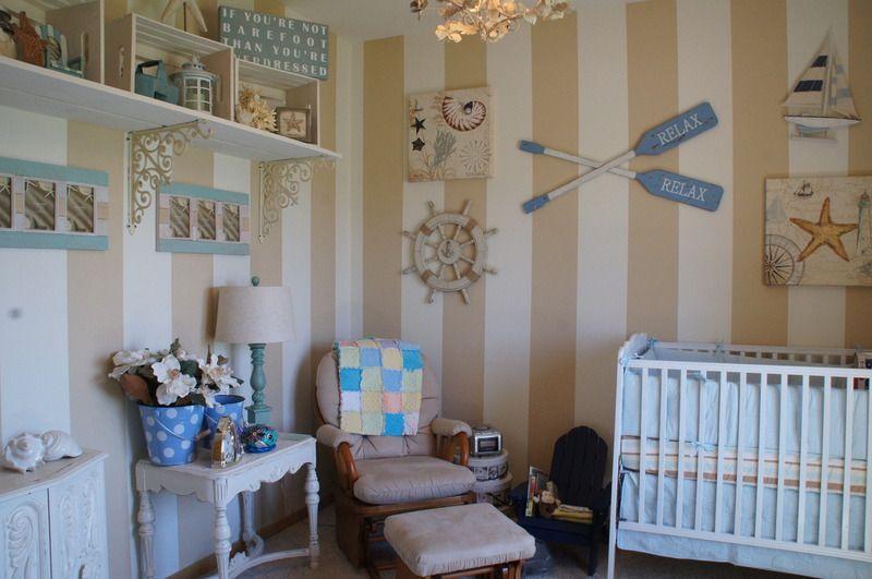Baby S Beach Nursery On A Budget Baby Room Themes Beach Nursery