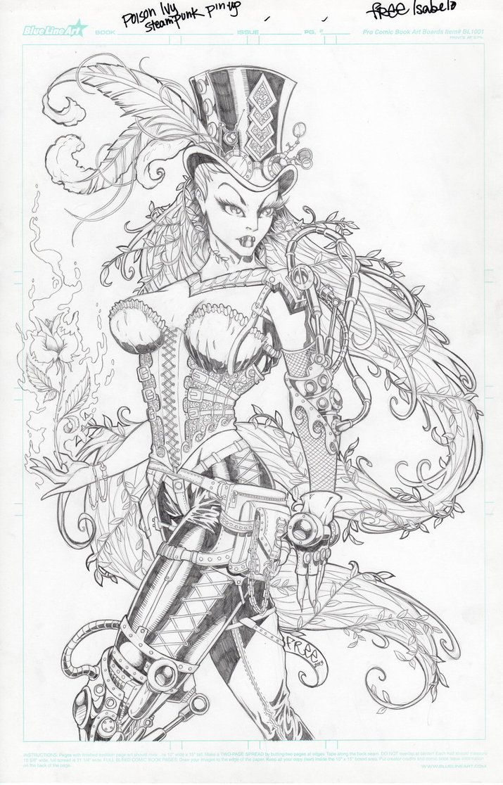 steampunk ivy drawing free isabelo steampunk poison ivy by