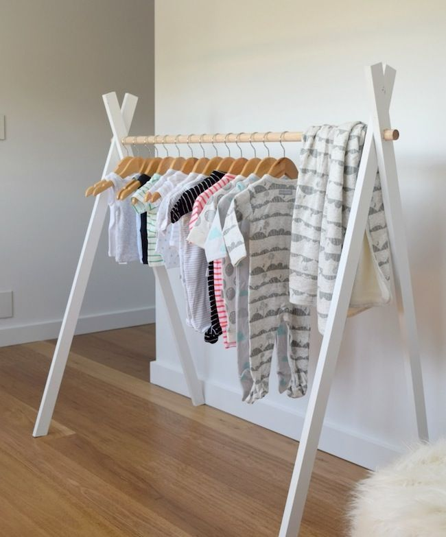 Diy Child Clothes Rack: Nos DIY Préférés Pour La Chambre De Bébé