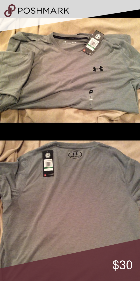 MENS BRAND NEW GREY UNDERARMOUR T-SHIRT SIZE L