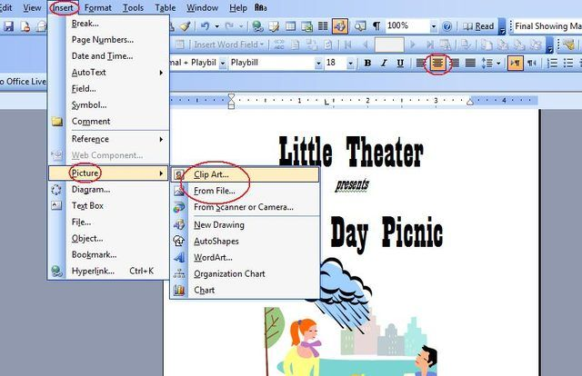 How To Make A Playbill On Microsoft Word Projects To Try