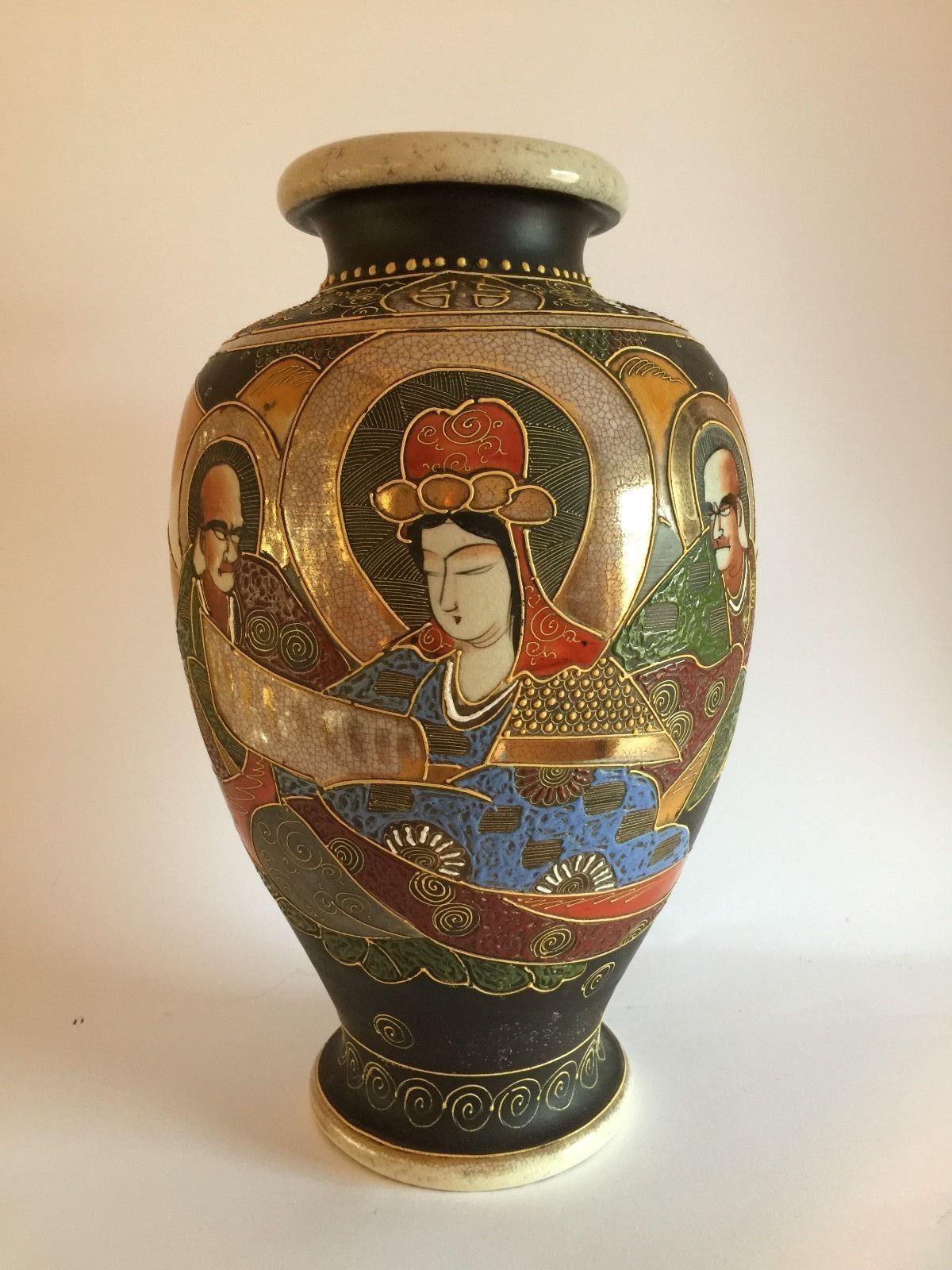 Satsuma vase porzellan japan handbemalt 32cm signiert ebay satsuma vase porzellan japan handbemalt 32cm signiert ebay reviewsmspy