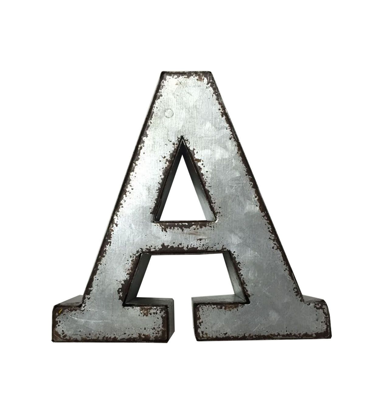 Extra Large Galvanized Letters Fab Lab Metal Letter  Metal Monogram  Home Decor  Top Products