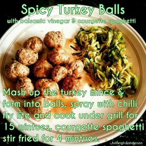 Spicy Turkey Balls   Turkey mince, Cambridge diet, Diet ...