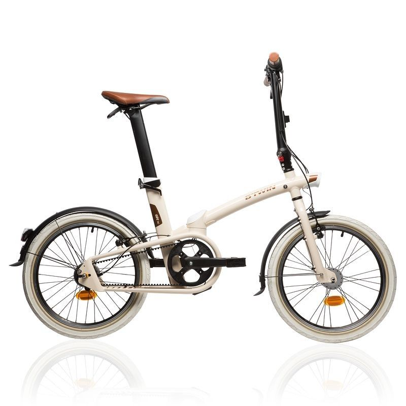 Velo Pliant Tilt 740 Beige B Twin Velo Velos Velos Cyclisme Decathlon 649 Folding Bike Bike Style Bicycle