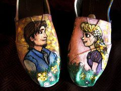 Tangled Painted Shoes | Custom Painted Canvas Shoes