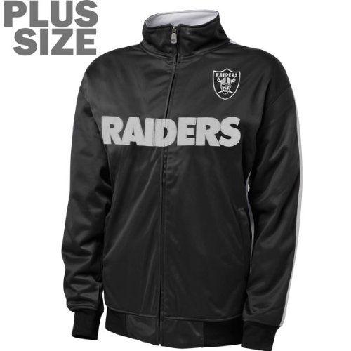 best loved 0e3ca dbede Oakland Raiders Women's Plus Size Full-Zip Track Jacket by ...