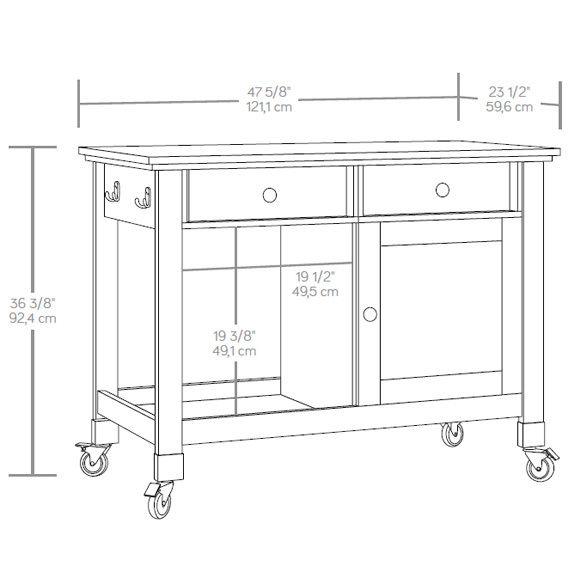 J.Conrad Furniture - Sauder Mobile Kitchen Island (416849), $369.99 (http://www.jconradfurniture.com/Sauder-Mobile-Kitchen-Island-416849/)