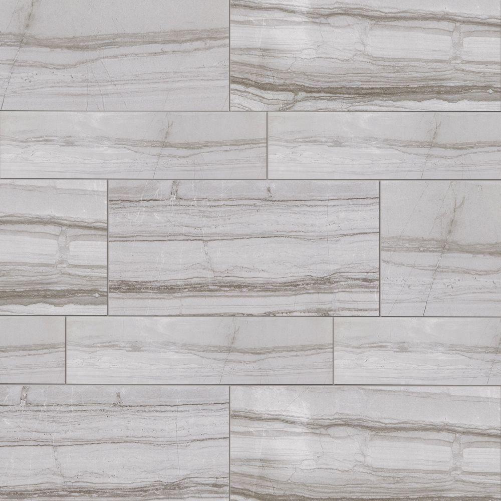 Marazzi vitaelegante grigio 6 in x 24 in porcelain floor for Marazzi tile