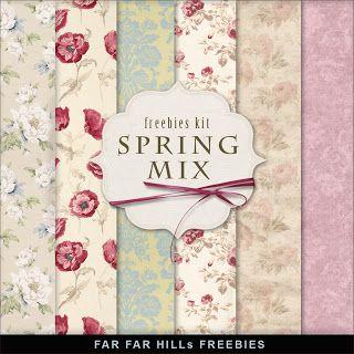 New Freebies Background Kit - Spring Mix