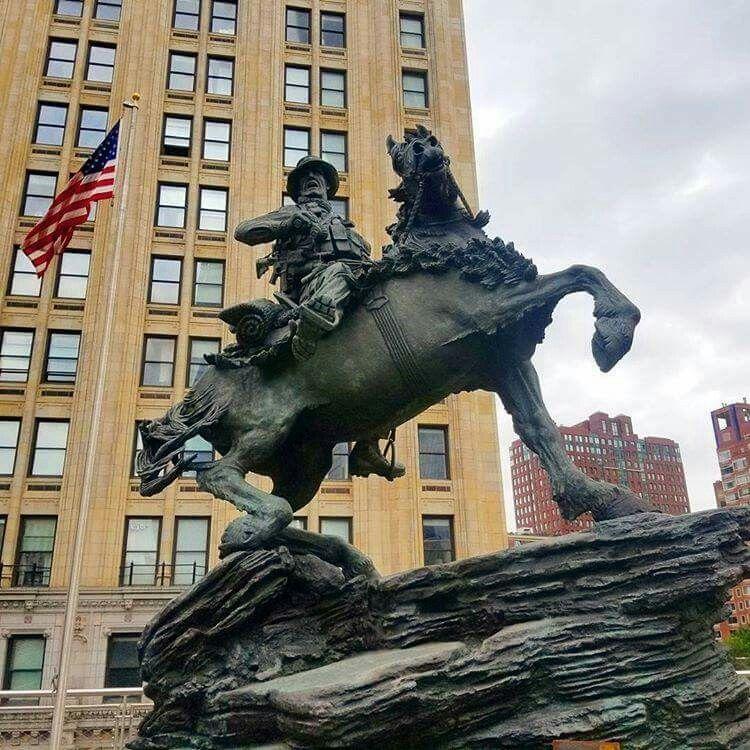 horse statue world trade center