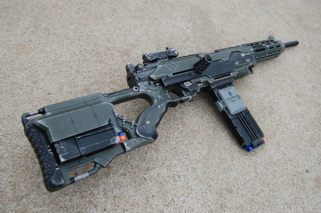 Nerf Gun Barrel Break IX-2 N-Strike + Dart Tag Pump Action +
