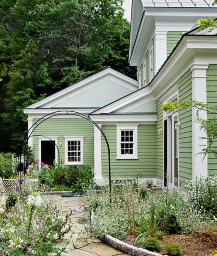 37 Green Exterior House Paint Rumah Rumah Modern Warna Cat