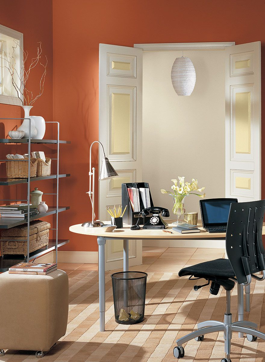 home office painting ideas. orange home office ideas - fun paint color schemes painting n