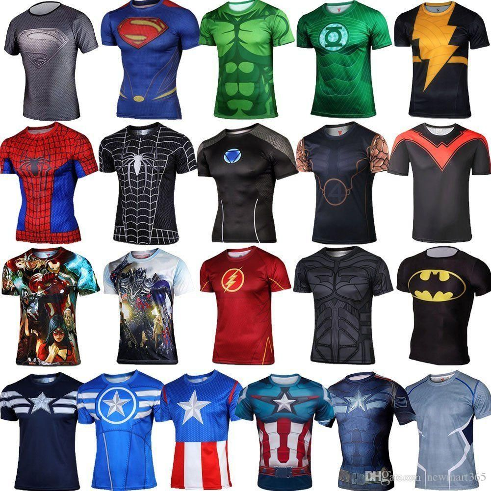 Superhero Captain America 2 Marvel Comics Costume Cycling Tee T