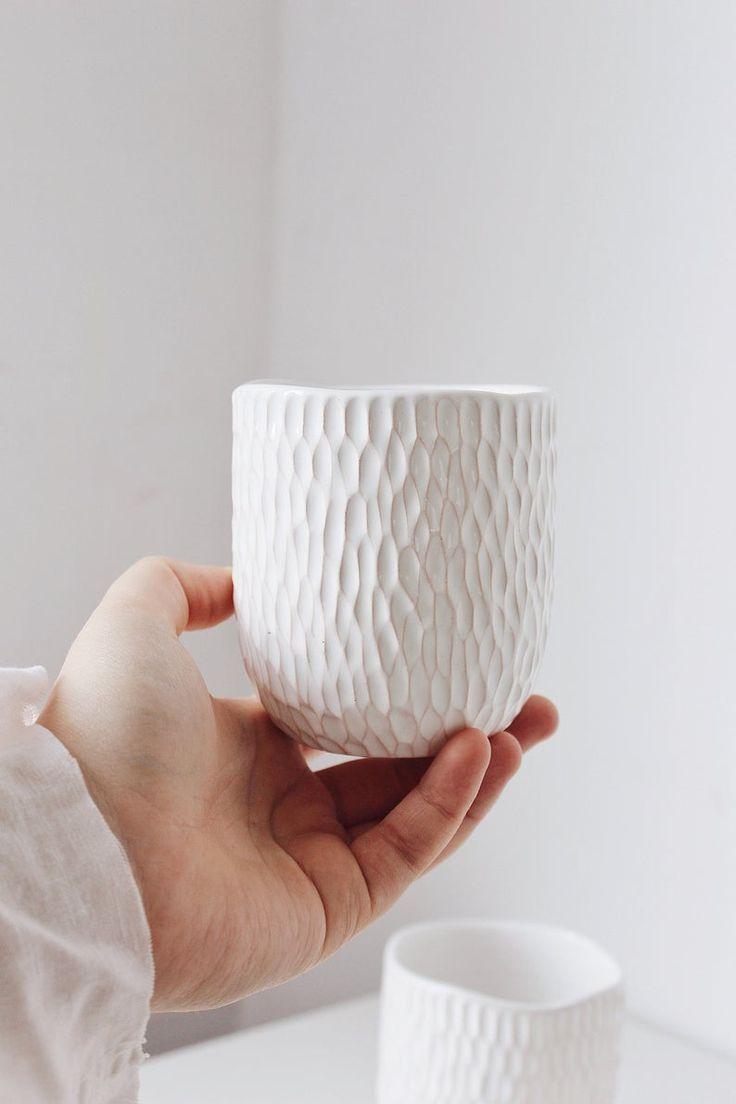 Set of 4 Ceramic Espresso Cups, Small Pottery Mug, Coffee mug, Tea cup, New home gift, Housewarming